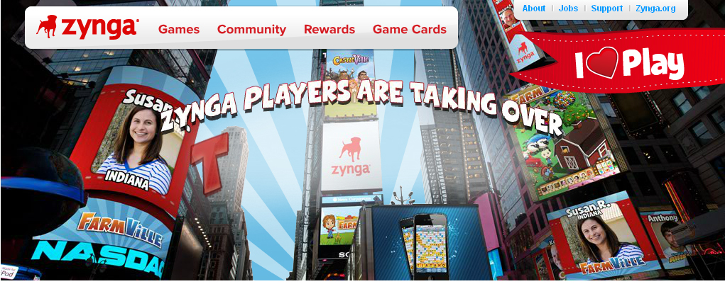 Zynga, Maker of famous Facebook Game Farmville starts their