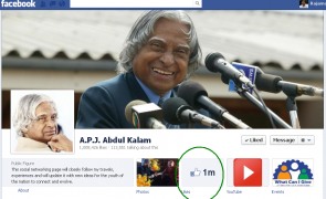 abdul kalam 1 million facebook