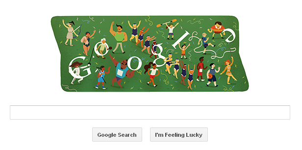 Closing Ceremonies on Google Doodle for London 2012 Olympics