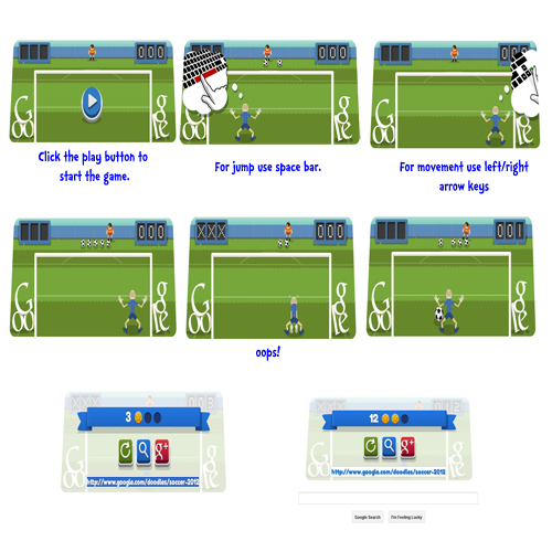 Play Football (Soccer) on Google Doodle Featuring