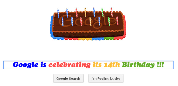Google is celebrating its 14th birthday with an animated Doodle | RtoZ Social Me