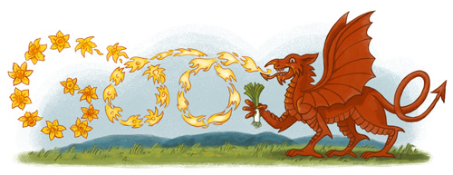 Google Shows Doodle for St David's Day to honour the patron saint of Wales | Rto